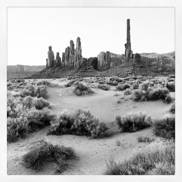 Monument Valley Totem Poles Copyright © 2012 Royce Howland