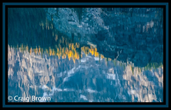 Lake O'Hara Reflection, Lake O'Hara area. Copyright © 2012 Craig Brown.