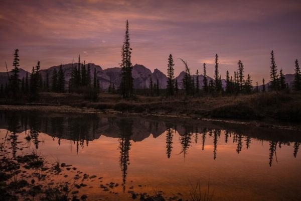 Sunrise Reflection, Copyright © 2012 David J Wright