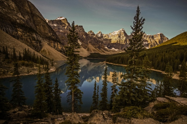 Moraine Lake Morning, Copyright © 2012 David J Wright