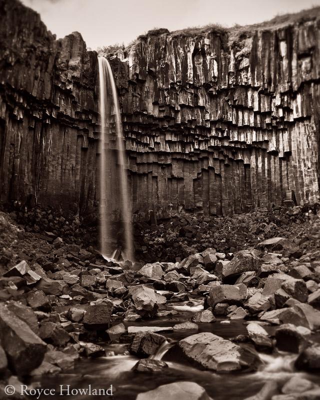 Darkling Falls, Skaftafell National Park