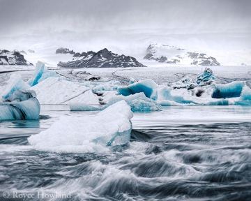 Glacier and Mini-bergs, Jokulsarlon