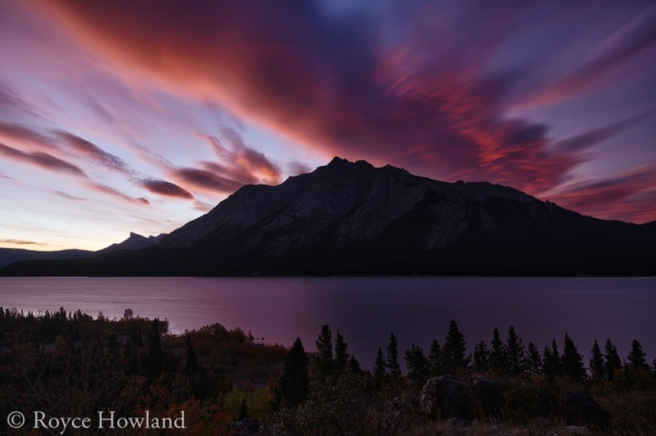 Fall Dawn Go Boom, Abraham Lake