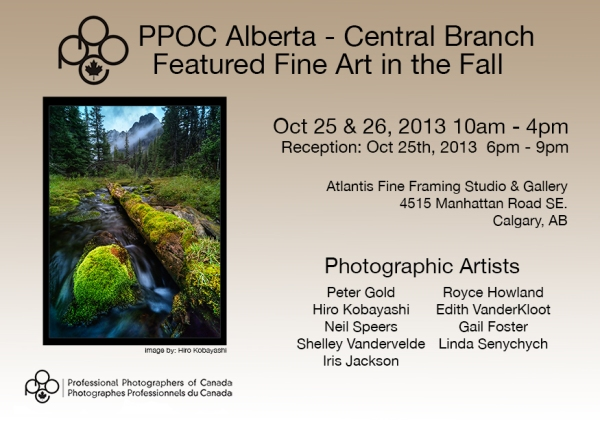 PPOC Alberta Central Branch Featured Fine Art in the Fall