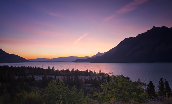 Abraham Lake Dawn. Copyright © 2013 Dudley Watson.