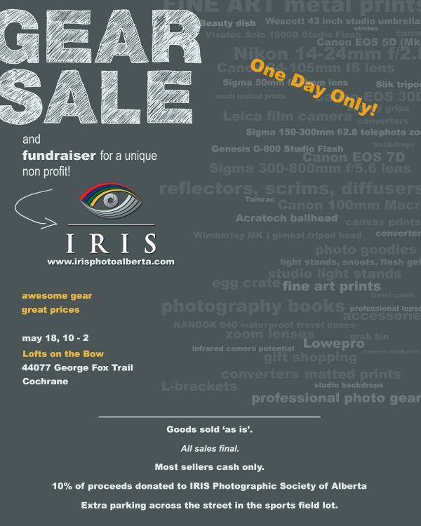 May 2014 Gear Sale and IRIS Fundraiser