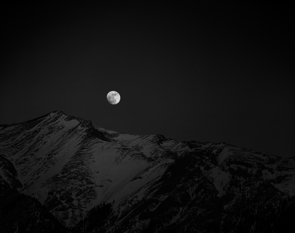 Moonrise Over Mt. Michener. Copyright © Olivier Du Tré.