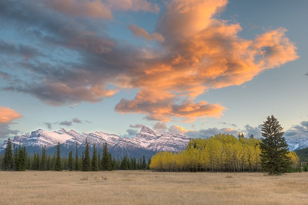 Kootenay Plains at Sunset. Copyright © Kerry Leibowitz.